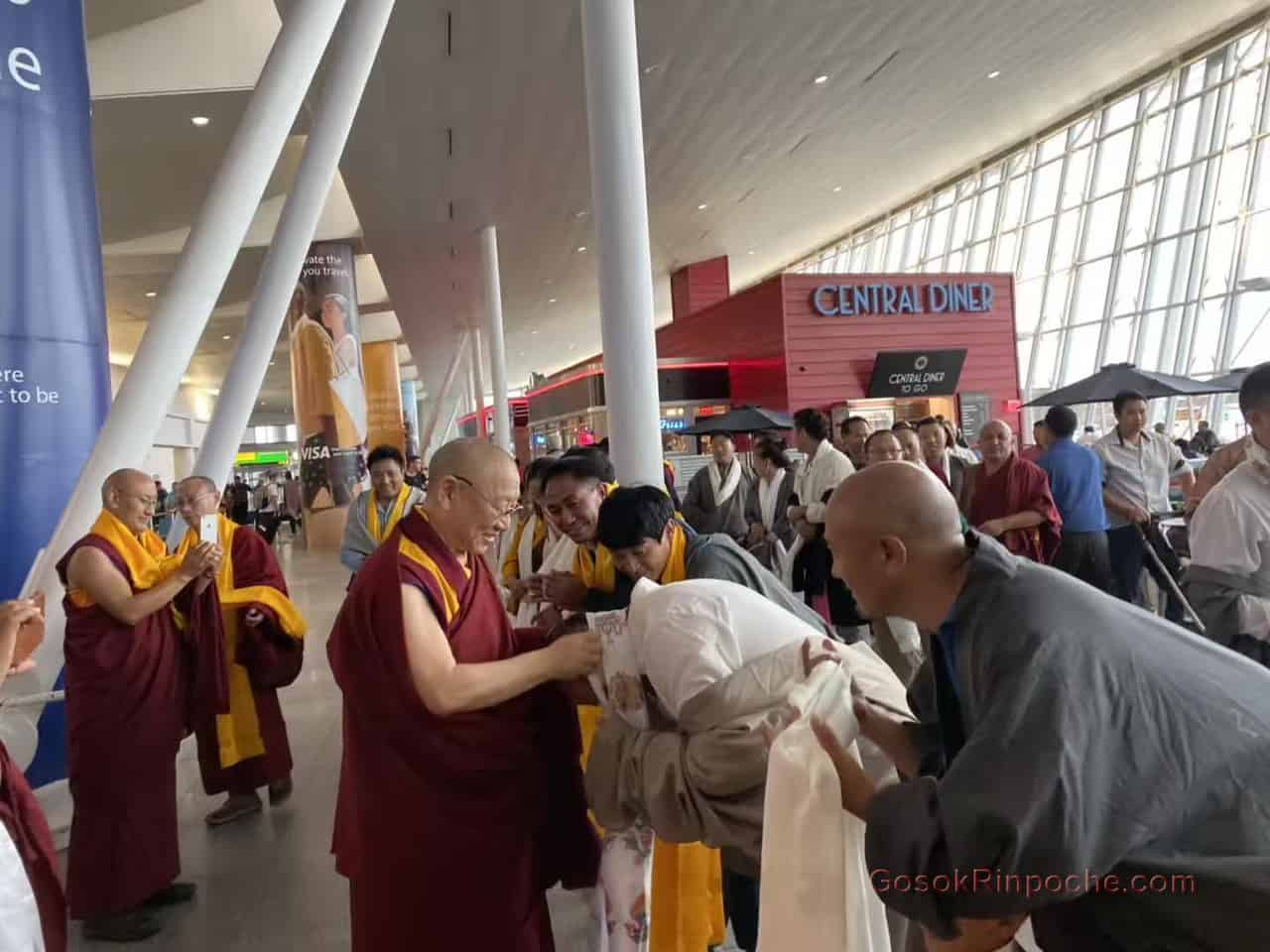 Gosok Rinpoche NYC airport 20190926184809